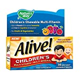 Alive! Children's Multi-Vitamin and Multi-Mineral 30 tabs by Natures Way