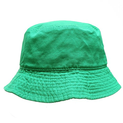 Down Under Cotton Hat (MIRMARU Summer 100% Cotton Packable Travel Outdoor Activities Fishing Bucket Hat.(Kelly Green,Sm))