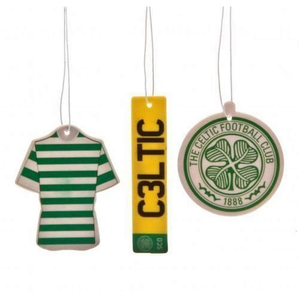 Celtic FC Air Fresheners (Pack Of 3) (One Size) (Green) UTTA243_1