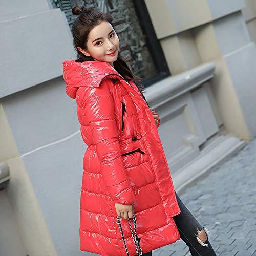 Piumino Invernale Donna Giacca Donna Con Soprabito xxl Ultraleggero Da Cappuccio Lunga Lungo Red Slim red FSqqv8RwIx