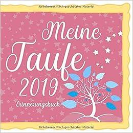 Meine Taufe 2019 Erinnerungsbuch Erinnerungsalbum Und