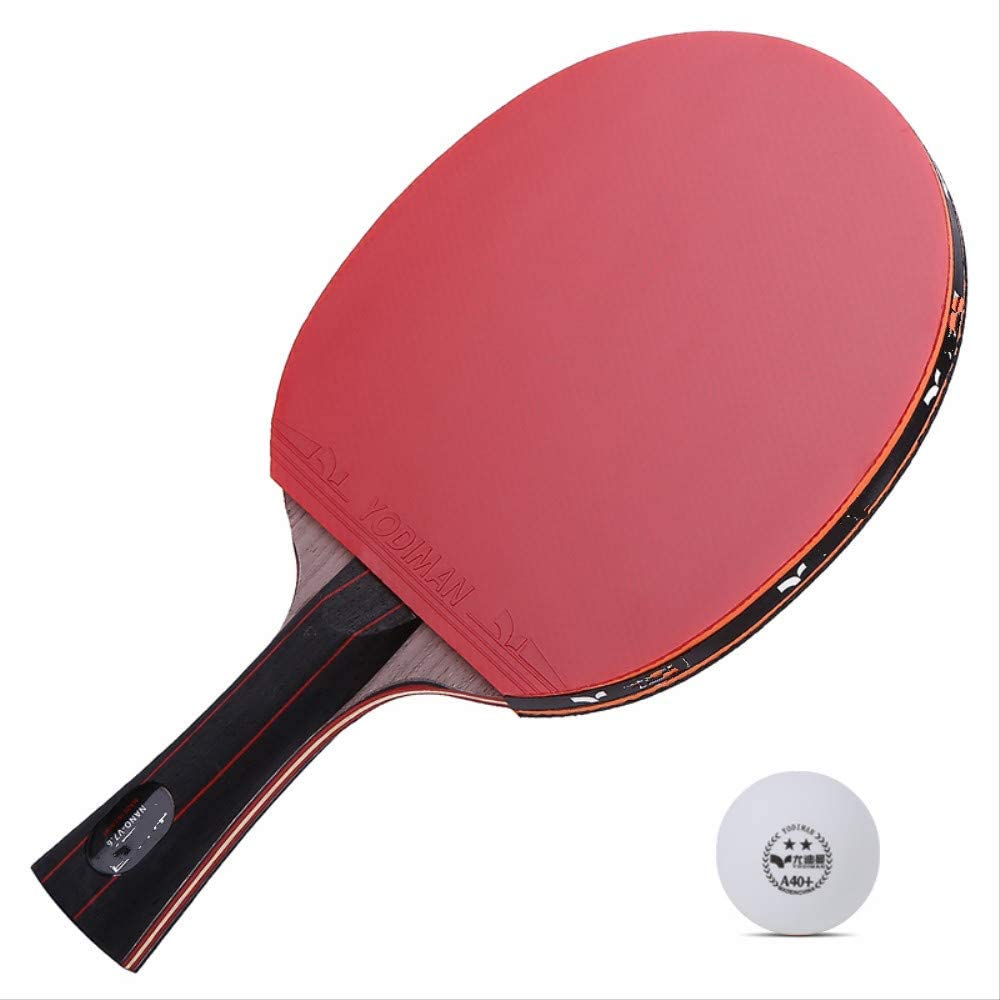 NANZHU Ping Pong Ping-Pong Mesa Pala Raqueta De Tenis De Mesa Single Shot 1 Placa Inferior De Tenis De Mesa Carbon Red and Black Carbon King Shot Especial