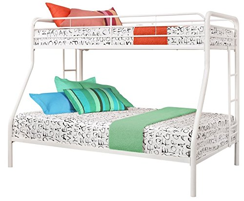 sturdy kids sturdy twin over full metal bunk bed with stairs this durable steel frame bunk bed. Black Bedroom Furniture Sets. Home Design Ideas