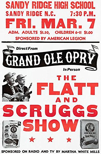 Flatt & Scruggs - 1969 - Sandy Ridge NC - Show That Never Happened - Concert Poster (Show Concert Poster)