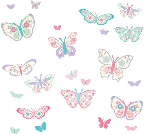 Wall Pops DWPK1154 Flutterby Butterflies Applique Kit