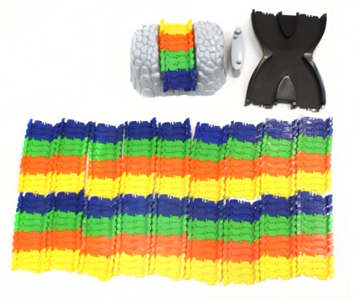 Kidoozie Build-A-Road X-Track, Mentally Stimulating and Employs Tactile Engagement, Fully Customizable, For Ages 3 and Up