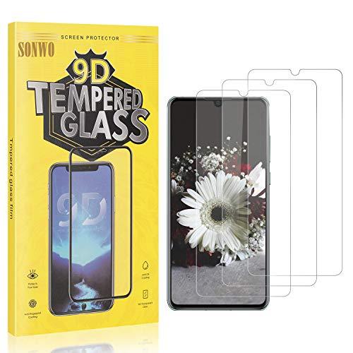 3 Stück Displayschutzfolie Kompatibel mit P30, SONWO Panzerglas Schutzfolie für Huawei P30, Gehärtetes Glas Schutzfolie