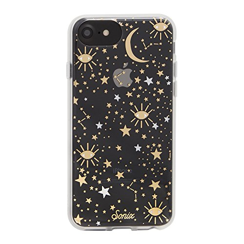 iPhone 8/iPhone 7/iPhone 6, Sonix Cosmic (Stars, Gold/Silver) Cell Phone Case [Military Drop Test Certified] Sonix Clear Case for Apple (4.7