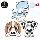 ZOEAST(TM) 3 Pack Phone Ring Grip Basset Hound Malamute 101 Malamute Universal 360° Adjustable Holder Car Desk Hook Stand Stent Mount Kickstand Compatible with iPhone X Plus Samsung iPad (3pcs Dogs)
