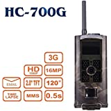 HC-700G Hunting Trail Camera 3G SMS SMTP 16MP HD 1080P Infrared Night Vision Wildlife Camera Time Lapse 2.0 Color LCD Display Hunting Scouting Surveillance Camera
