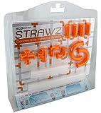Orange Strawz Connectable Build Your Own Straws Construction Kit - Fun Modular Interlocking Educational Toys