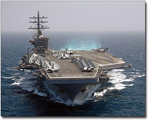 Aircraft Carrier USS Dwight D. Eisenhower (CVN 69) 16x20 Silver Halide Photo Print ()