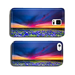 Sunset on Sugar Ridge Road, Ennis, TX cell phone cover case Samsung S6