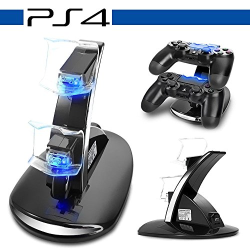 Price comparison product image PS4 Charging Station,Anrain PS4/PS4 SLIM/Ps4 PRO Dual USB Charging Charger Docking Station Stand for Playstation 4 PS4/PRO/SLIM Controller