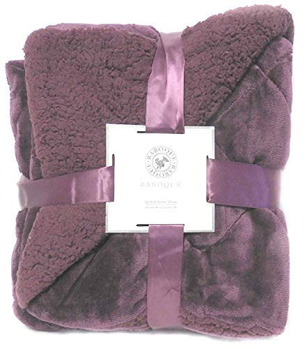- DINY Baroque Velvet Series Sherpa Luxury Berber Throw Blanket 50