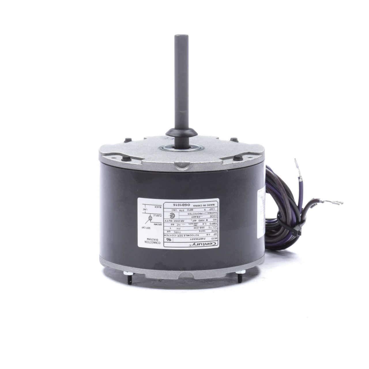 Goodman/Janitrol Condenser Motor 1/6 hp 1075 RPM 208-230V Century # on