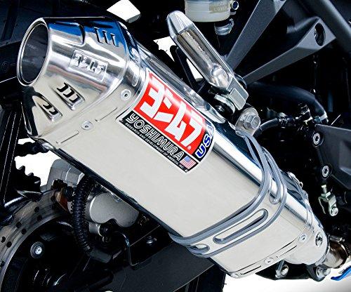 Yoshimura TRC Polished Stainless Steel Tri-Oval Slip On Exhaust System - Kawasaki Ninja 250R 2008-2011 (Ons Race Oval Slip)