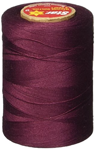 Star Thread V37-041B 3-Ply 30wt T-35 Cotton Quilting & Craft Thread, 1200 yd, Maroon (Maroon Thread)