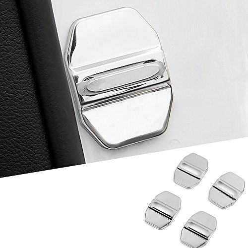 Car Door Lock Latches Cover -SEAMETAL Stainless Steel Protector For Mercedes Benz GLK-Class,S-Class W204 W205 W176 W212 Maybach,A/C/CLA/GLA/G/M/S/SL-Class AMG Jeep Wrangler Protect from Corrosion -  JustMos
