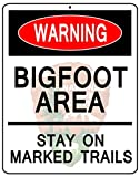 "Bigfoot Warning National Park Service NPS Arrowhead 8"" X 10"" Novelty Metal Sign"