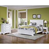 Home Styles 5530 5014 Naples Queen Bed, Night Stand And Chest, White Finish