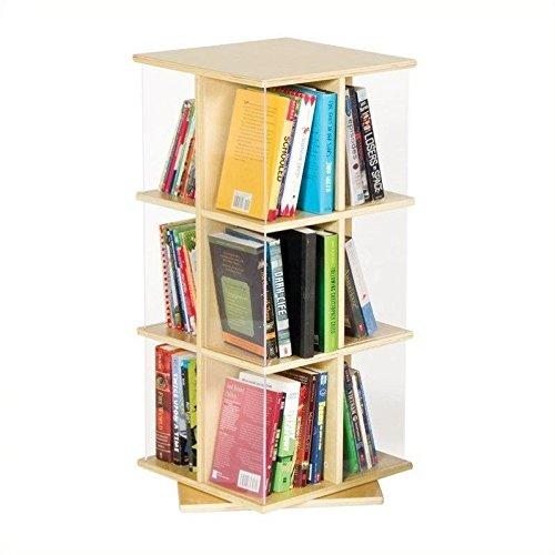 GuideCraft Rotating Book Display 3 Tier - Revolving Bookcase: Amazon.com