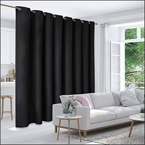 Deconovo Privacy Room Divider Curtain Thermal Insulated Blackout Curtains Extra Large Screen Partitions Room Darkening Panel