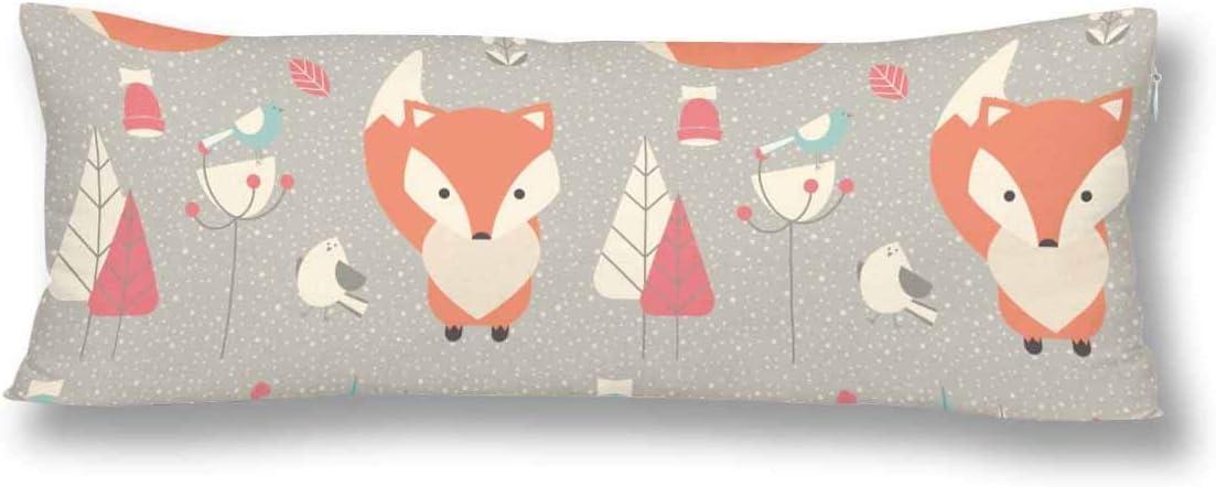 CiCiDi Cute Fox Lal Weiche Baumwolle Kissenbezug