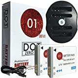 DOT-01 2x Brand 1Replacement Canon NB-6L Batteries and Dual Slot USB Charger for Canon SX710 HS Digital Camera and Canon NB6L