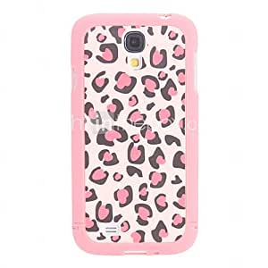 Pink Leopard Pattern 3 in 1 Bumper and Back Case for Samsung Galaxy S4 I9500