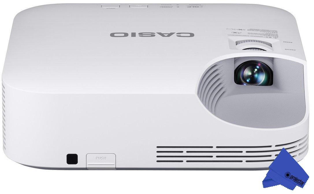 Casio XJ-V2 LED XGA Projector + PSC Lens Cloth (3,000 Lumens)