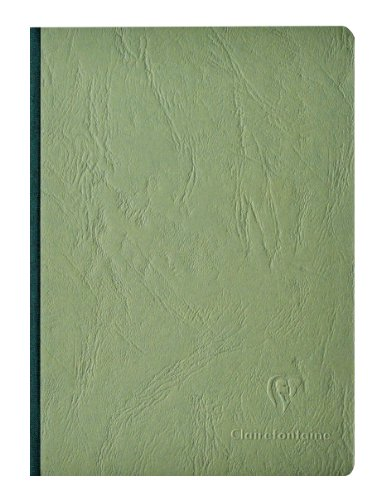(Clairefontaine Basic Large Clothbound Notebook (6 x 8.25) Green 192)
