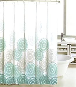 grey and turquoise shower curtain. Max Studio Home Cotton Shower Curtain Sea Medallion Grey Teal Turquoise and  White Ombre 72 inch By Amazon com