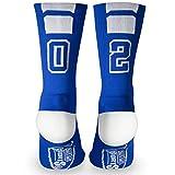 Custom Team Number Crew Socks | Athletic Socks by ChalkTalkSPORTS | Blue | 02