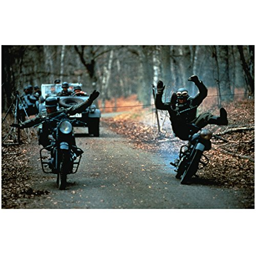 Highlander: The Series 8 x 10 Photo Motorcycle Soldiers Getting Clotheslined kn (Series Viii Cycle)