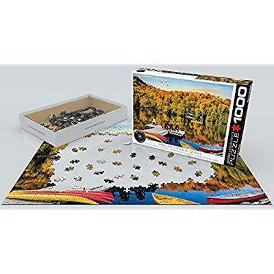 EuroGraphics 5427 Lakeside Cottage, Quebec Puzzle (1000Piece): Toys & Games