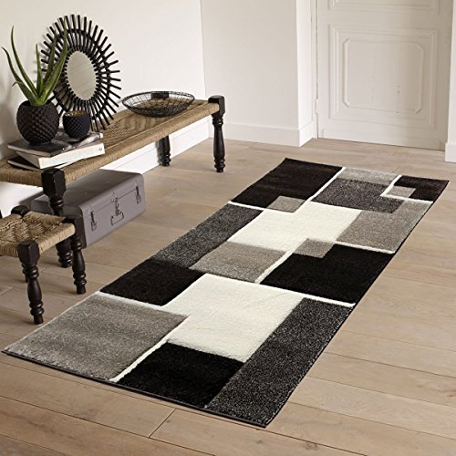 Cheap  Renzo Collection Easy Clean Stain and Fade Resistant Luxury Brown Area Runner..