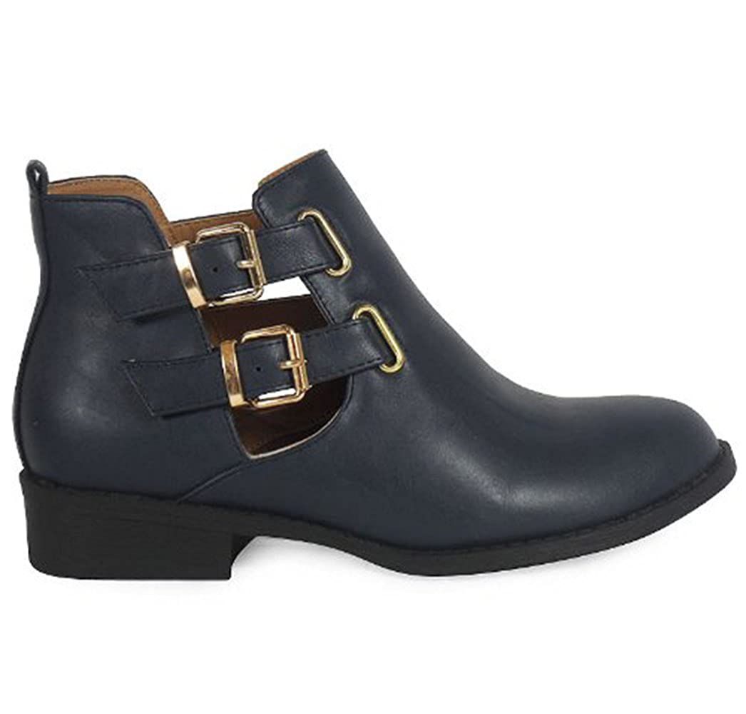 a537b0a109d7b Womens Ladies Flat Low Heel Pixie Vintage Retro Chelsea Style Winter Ankle  Boots Size 3-8 (UK 3 EU 36
