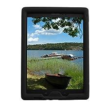 Bobj Rugged Case for Samsung Galaxy Tab A 8 inch Tablet, (SM-T350), Tab A Plus 8 inch (SM-P350) - BobjGear Protective Cover (Bold Black)