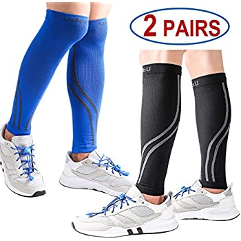 f9cef357b1 Udaily Calf Compression Sleeves for Men & Women (20-30mmhg) - Calf Support Leg  Compression Socks for Shin Splint & Calf Pain Relief