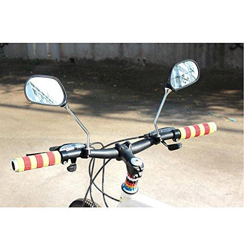 kimo 2 Pcs 360° Rotate Adjustable Universal Handlebar Rear View Mirror For Bike Bicycle Cycling Black by kimo (Image #7)