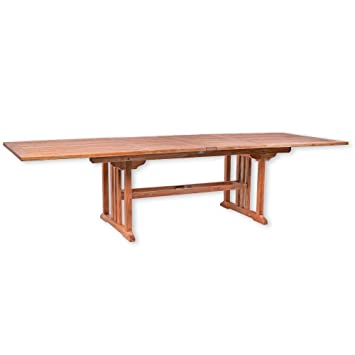 Table de Jardin Malang carré Extensible 200-300 cm Table Bois de ...