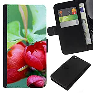 All Phone Most Case / Oferta Especial Cáscara Funda de cuero Monedero Cubierta de proteccion Caso / Wallet Case for HTC DESIRE 816 // Plant Nature Forrest Flower 73