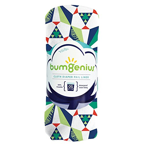 bumGenius Reusable Diaper Pail Liner – 26 x 30 – Fits Most Pails (Sierpinski)