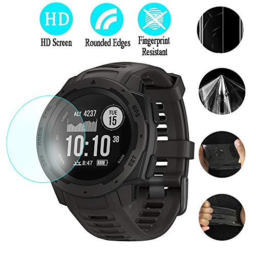 Huangou [1 Pack ◆ Smart Watch HD Film ◆ Ultra Clear Transparent Pet Film Screen Protector for Garmin Instinct (Clear) by Huangou (Image #2)