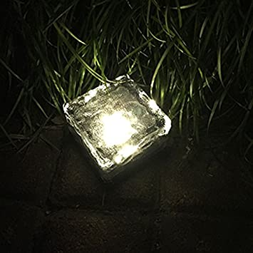 Solared Power Crystal Glas Brick Road Boden Lichter Garten Weg
