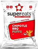 SuperEats High protein Puffs, Chipotle BBQ, 3 Ounce (Pack of 12)