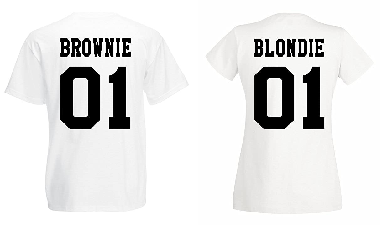 Shirt'smodèle Blondieamp; Brownie 2x Couple Partenaire Trvppy T vmNO0w8n
