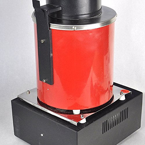 Uttiny Gold Melting Furnace, with Graphite Crucible 1400W 2KG Automatic Gold, Silver, Copper and Aluminum Melting Furnace for Refining Casting Gold Silver Copper Jewelry Making Precious Metals (2KGS)