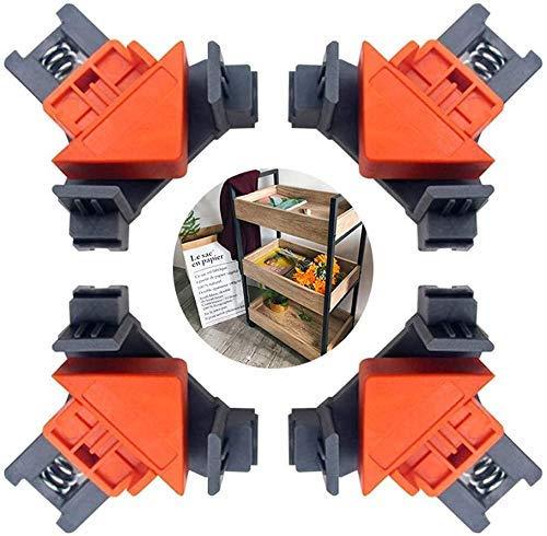 Und M/öBelreparatur YUNZUN Rechtwinklige Klammer 90 Grad , 4Pcs Schrank Set Verstellbare Rechtwinklige Clipklemmen Eckhalter, Holzbearbeitungswerkzeug F/üR Die Verbindung Holzbearbeitung